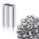 TONGXU 200PCS Manguito de Bucle de Aluminio para Cable Clips de Mangas de Aluminio para Cu...
