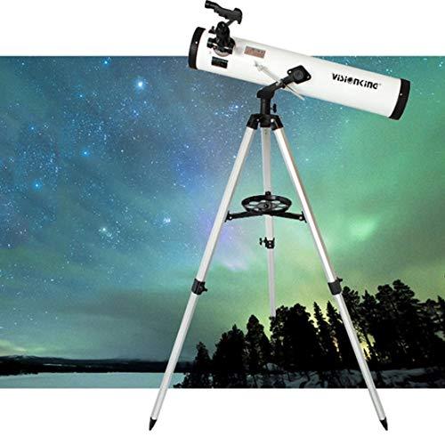 RJW Visionking Astronomía (700 / 76mm) Telescopio de 3 Pulgadas Reflector newtoniano Telescopio Espacial astronómico Sorprendente