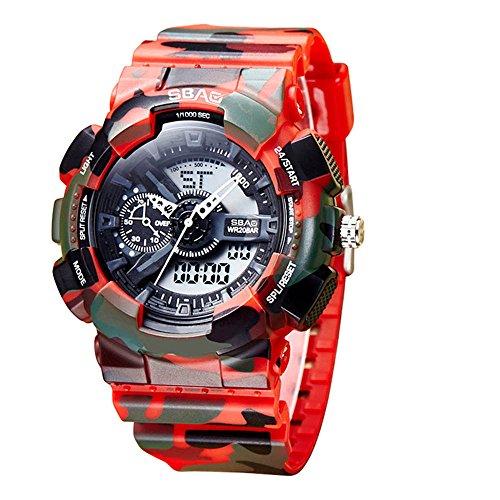 HWCOO SBAO Uhren Herrenmode Multifunktions 30m wasserdichte elektronische Uhr (Color : 6)