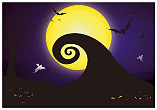 Allenjoy 7x5ft Happy Halloween Backdrop for 2019 Pumpkin Jack Theme Photo Studio Photography Pictures Background Nightmare Before Xmas Christmas Party Home Decor Outdoorsy Shoot Props Drop