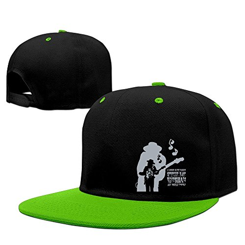 Huseki Red Stevie Ray Vaughan American AllMusic Dallas Snapback Caps Baseball Cap KellyGreen