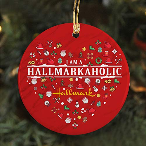 I'm A Hallmarkaholic Ornament Hallmark Christmas Movie Ornament