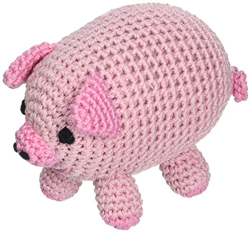 Mirage Pet Products 500-016 Knit Knacks Piggy Boo Organic Cotton Dog Toy, Small