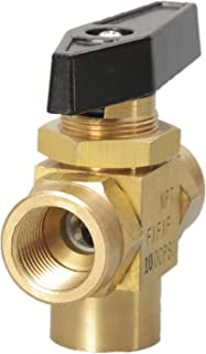 3 Way Panel Mount Brass Ball Valve 1/4