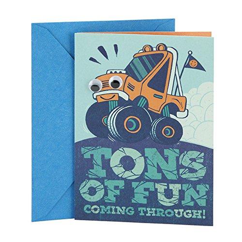 Hallmark Birthday Greeting Card for Kids (Monster Truck Sticker)