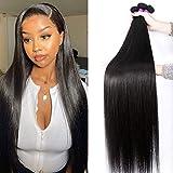 10A Straight Human Hair Bundles (26 28 30 Inch) 100% Virgin Brazilian Hair 3 Bundles Straight Weave Hair Human Bundles Unprocessed Remy Hair Bundles