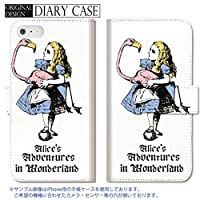 chatte noir iPhone6s ケース アイフォン6 ケース 手帳型 おしゃれ 不思議の国のアリス アリス チシャ猫 B 手帳ケース