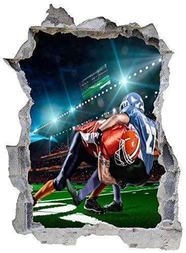 Football Spieler Tackle Wandtattoo Wandsticker Wandaufkleber E0631 Größe 67 cm x 90 cm