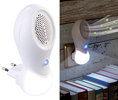 newgen medicals Raumluftreiniger: 2in1-Steckdosen-Ionisator-Luftreiniger & LED-Nachtlicht, bis 15 m² (Night Light)