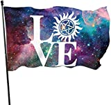 Oaqueen Flagge/Fahne, Love Anti Possession Symbol Flag: 3x5 FT Flag Tough The Strongest, Longest Lasting Flag National Flag Outdoor Flags