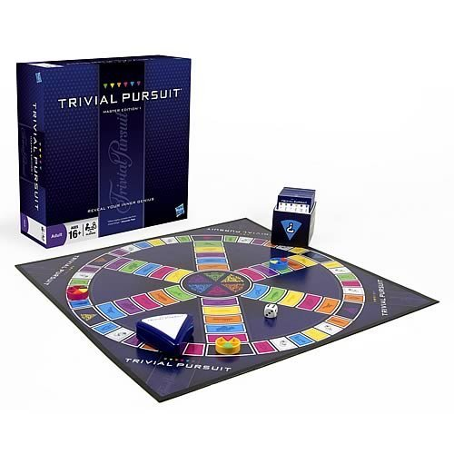 Hasbro Gaming Trivial Pursuit Master Edition Trivia Board Game for Adults and Teens Ages 16 and Up(Amazon Exclusive)