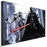 Star Wars Darth Vader Stormtrooper Leinwandbild LaraArt Studio Wanddeko Wandbild 80 x 60 cm