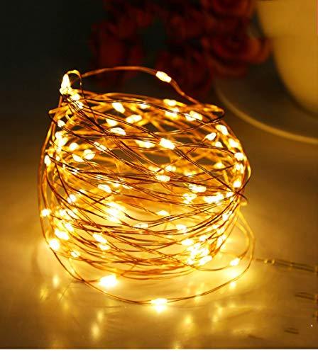 Tira LED de cobre de 10 m, luces de hada, iluminación de Navidad, exterior, jardín, para bodas, fiestas, hogar, decoración interior