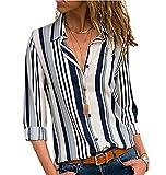 Camisas Mujer Blusa con Botones Camisetas Manga Larga Sexy T