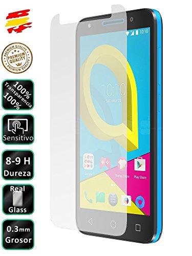 Movilrey Protector para Alcatel U5 3G Cristal Templado de Pantalla Vidrio 9H para movil