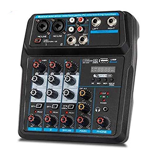 Funiee Creative Sound Blaster K4+ Mezclador digital de 2 canales con alimentación USB, AMP/DAC/, efectos digitales XLR entradas con líneas Phantom Power/TRS/Z, efecto de sonido web en vivo