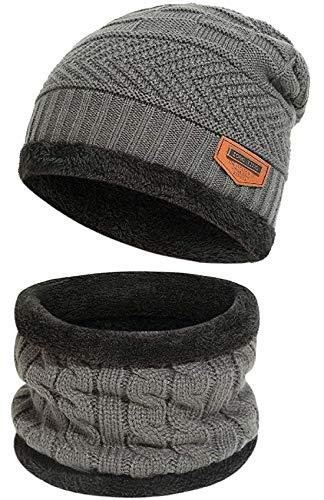 HUNTSMANS ERA Winter Woolen Cap with Neck Scarf for Men and Women/Winter Caps for Men/Woolen Cap (Black)