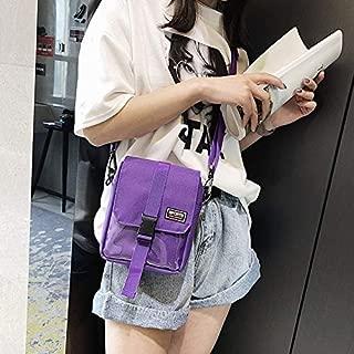 Fashion Single-Shoulder Bags Nylon Sports Single Shoulder Bag Handbag Messenger Bag (Black) (Color : Purple)