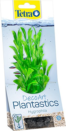 Tetra DecoArt künstliche Wasser-Pflanzen für das Aquarium, naturgetreue Nachbildung, Grüne Hygrophila