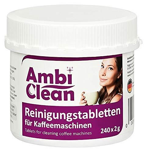 AmbiClean® Reinigungstabletten für Kaffeevollautomat und Kaffeemaschine | für Privat, Büro und Gastronomie - 240 Tabletten je 2g