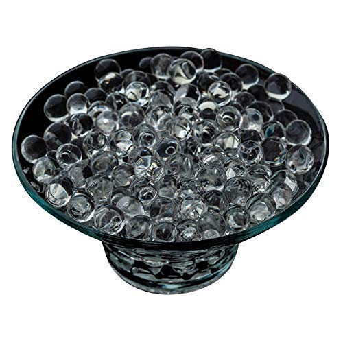 WedDecor Bolas de Cristal de Agua Transparente decoración de Centro de Mesa, decoración del hogar, Boda, jarrón Relleno, Transparente, 1000 Piezas