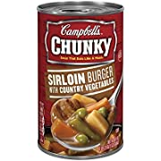 Campbell's Chunky Sirloin Burger with Country Vegetables Soup (Pack of 8)