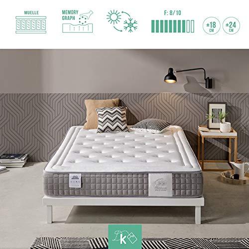 Dreaming Kamahaus Platinum VISCOSPRING qualitätsmatratzen Hochwertige | 7-Zonen Taschenfederkernmatratze | Härtegrad H3 | Formgedächtnis (100x180x18cm H3)