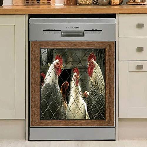 Gallina de granja Cocina Pegatinas magnéticas para lavavajillas Pegatinas para puertas de frigoríficos Pegatinas para electrodomésticos