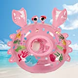 bestllin Schwimmen Ring Karton Krebse Baby Pool Float Sitz Boot mit Schwimmen Sicherheit Griffe Kinder Kleinkinder mit umweltfreundlicher Materialien (Pink)...