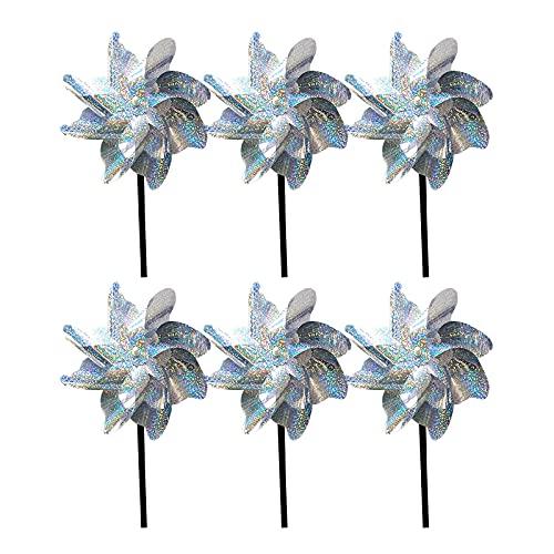 Vogelabwehr reflektierende Windmühle,Reflektierende Vogelabwehr Windrad ,Vogelschutz für Garten und Balkon