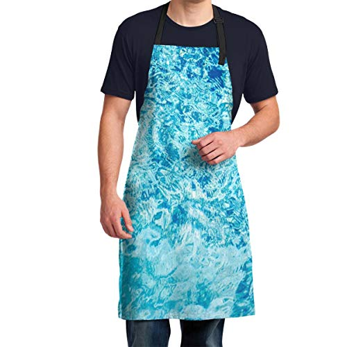 Aprons for Men Turquoise Sea Ocean Wave Blue Mens Aprons For Cooking Funny, Cooking Apron For Men, Men Aprons For Grilling, Funny Aprons For Men, Kitchen Aprons For Men, Personalized Aprons