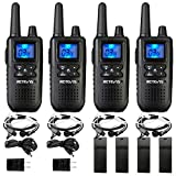 Retevis RT41 Walkie Talkies Long Range for Adults, Two-Way Radios with Earpieces, 22