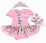 NPK Jupes de Tutu pour la Robe d'anniversaire de Poupées de 20-22 Pouces Vêtements de Bébé Fille Baby Dolls Dress