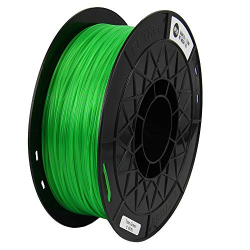 CCTREE Easy Print PETG Filamento 1,75 mm 1 kg spool, Upgrade Stronger Toughness Printing Accuracy +/- 0,03 mm per stampante 3D Creality Ender3v2, Anycubic Mega 3D (Tran-Green)
