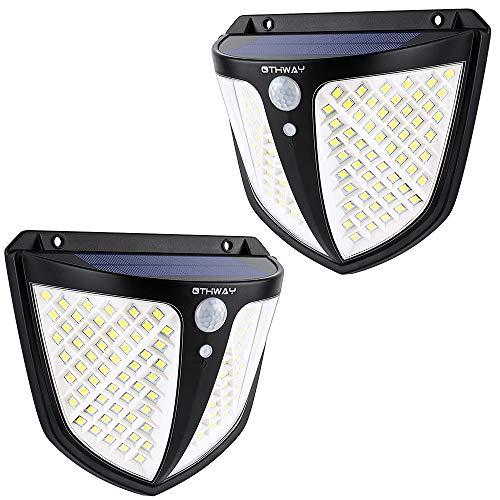 OTHWAY Solarleuchten Außen Garten, 108 LED Außenleuchten Solarbetriebene PIR-Bewegungsmelder Sicherheitslichter mit 270° Weitwinkel, 3 intelligente Beleuchtungsmodell, wasserdichte Solar-Wandleuchte