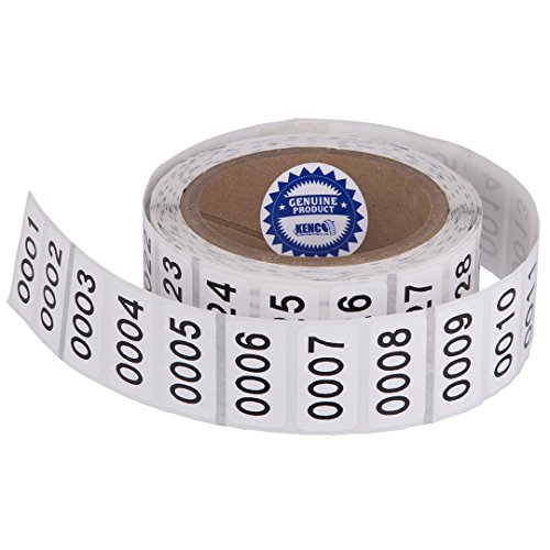 """Consecutively Numbered Labels. Measure: 1.5"""" X 0.75"""" Paper Material (Various Number Sequences Available) (0001-1000)"""