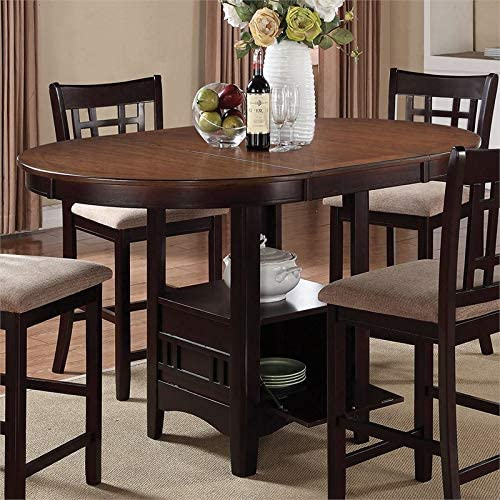 In stock BOWERY HILL Extendable Counter Height Chestnut Oakland Mall in Dining Table
