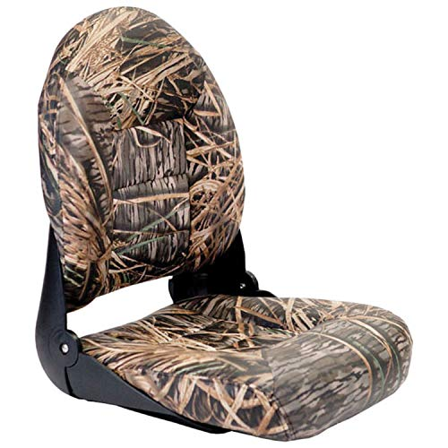 "Tempress 54922 Navistyle High-Back Boat Seat - Mossy Oak Shadow Grass Vinyl, 23 1/2"" H X 18 1/8"" W X 19 1/2"" D"