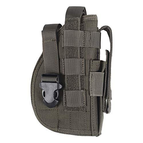 OneTigris Molle Belt Holster Right Handed Pistol Holster for 1911 45 92 96 Glock (Ranger Green)