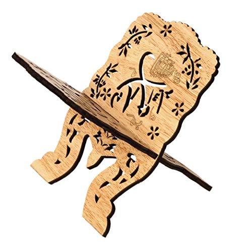 Prayer Book Stand Kuran Holder Quran plat houten Natural voor Eid Mubarak Decoratie Partij Supplies Islamitische
