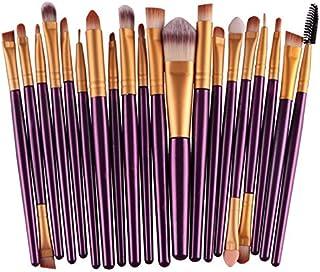 Kit Pinceis Roxo Maquiagem Profissional 20 Peças