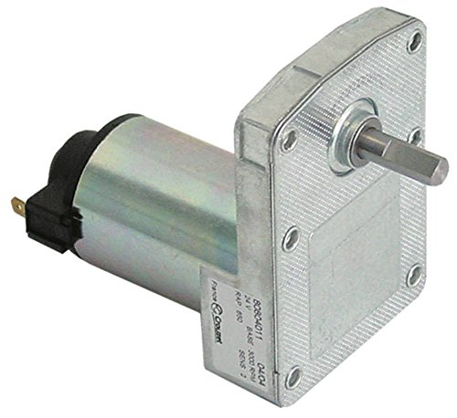 CROUZET 80804011 Getriebemotor für Toaster Sirman ROLLER, Fimar TOC, TOCS 24V 4,6U/min Welle ø 0,88mm Höhe 97mm Breite 64mm