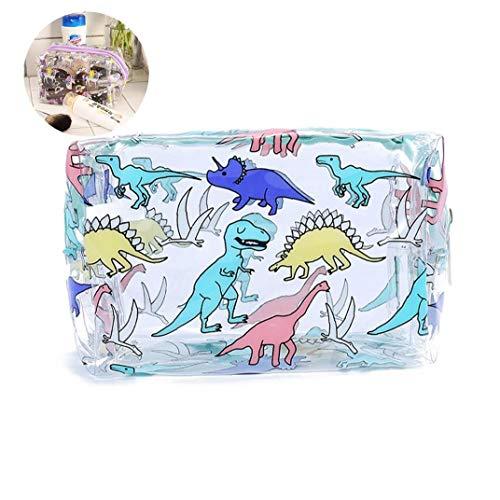 Adorable cosmétique Sac transparent Beauté Organisateur Handy Voyage étanche Pouch pour Voyage - coloré Dinosaur