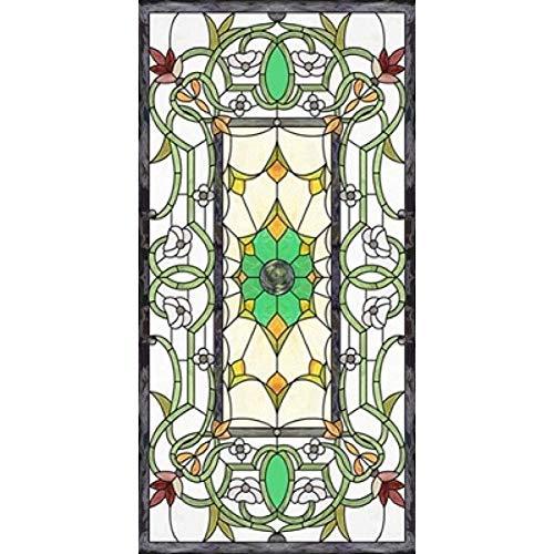 Fensterfolien Fensteraufkleber Fensteraufkleber Fensterfolie Benutzerdefinierte Größe Elektrostatische Frosted Buntglas-Fenster Film Kirche Startseite Folie Türaufkleber PVC-Selbstklebe Window Film