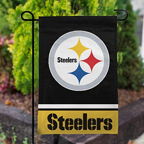 Stockdale Pittsburgh Steelers Garden Flag 12.5'x18' Football Team Banner 2 Sided Printing for Yard Outdoor Decoration