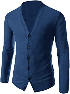 Sweater Mens Casual Slim Fit Cardigans V-Neck Basic Designed Long Sleeve Button Down Jacket Coat