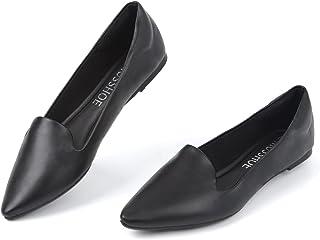 Sponsored Ad - MUSSHOE Ballet Flats for Women Comfortable Women's Flats Memory Foam Slip on Pointed Toe Flats Shoes Women