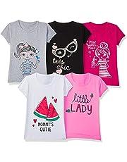 T2F Girl's Regular Fit T-Shirt