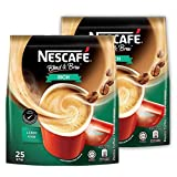 2 PACK - Nescafé 3 in 1 RICH Instant Coffee (50 Sticks TOTAL) Made from Premium Quality Beans Offers a Relaxing Flavor But with Strong, Solid Essence and Aroma Has a Richer Taste than Nescafé 3 in 1 Original Serve Hot or Cold From Nestlé Malaysia