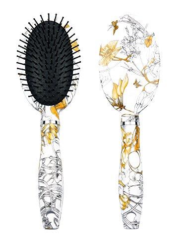 Titania Brosse à cheveux ronde, papillons Tête Ovale, poils en plastique avec cuir chevelu schützenden Têtes, 1er Pack (1 x 116 g)